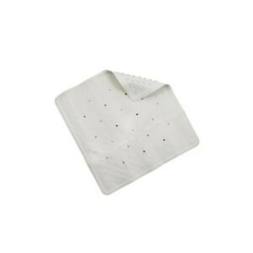 Croydex Rubber Square Shower Mat 53cm x 53cm Cream AG183622