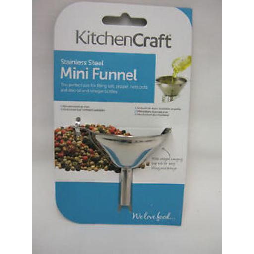 Kitchen Craft Stainless Steel Mini Jar Funnel KCMINIFUNNEL
