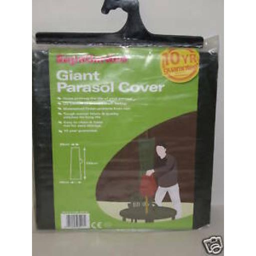 Supa Giant Garden Parasol Cover Green SGC25