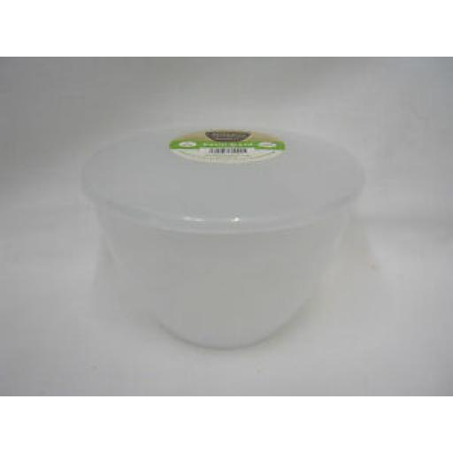 Just Pudding Basins Plastic Pudding Bowl Basin And Lid 2 Pint 1.14 Lts