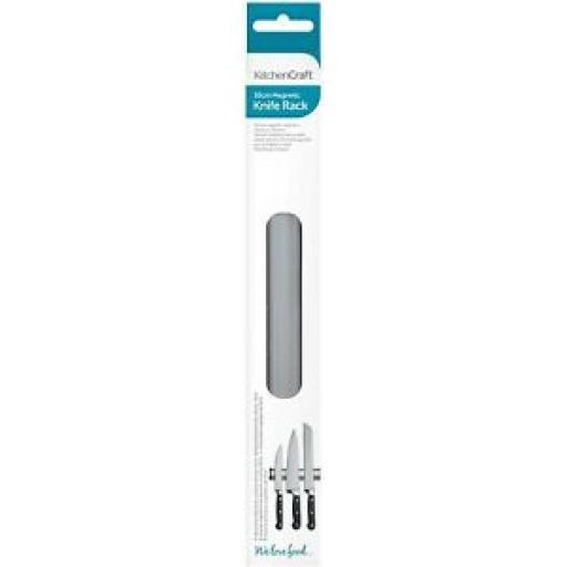 """Kitchencraft Magnetic Knife Rack Holder 30cm 12 """" KCCARACKSML"""