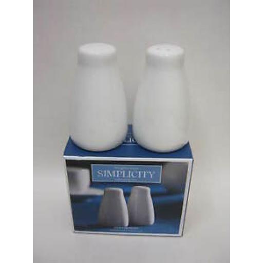 Dema Simplicity Salt And Pepper Set White Fine Porcelain