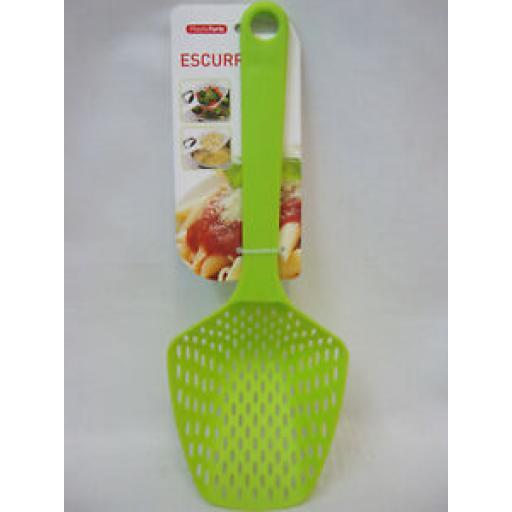 Albero PlasticForte Large Plastic Slotted Spoon 11848 Escurridor Lime Green