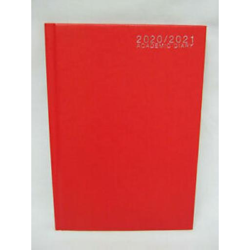 Tallon Mid Year Academic Diary A5 2020/21 Hard Back Red