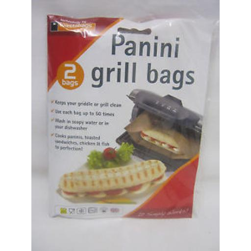 Toastabags Panini Griddle And Grill Toastie Toasted Sandwich Bags Pk 2