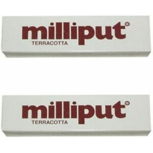 2 x Tubes Milliput 2 Part Epoxy Putty Terracotta
