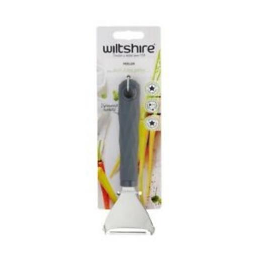 Wiltshire Non Slip Grey Soft Grip Swivel Y Potato Vegetable Peeler 682091