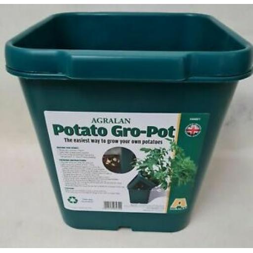 Agralan Potato Gro Pot Vegetable Planter Green Plastic HA682/1