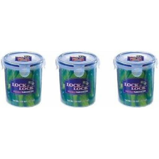 3 X Lock and & Lock Round 700ML Food Container HPL932D