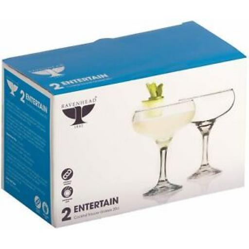 Ravenhead Entertain Cocktail Saucer Glasses 20CL Pk2 0041.623 Set 2