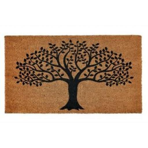 Groundsman Coir Doormat Tree Of life Door Mat 40cm x 70cm GMDM250