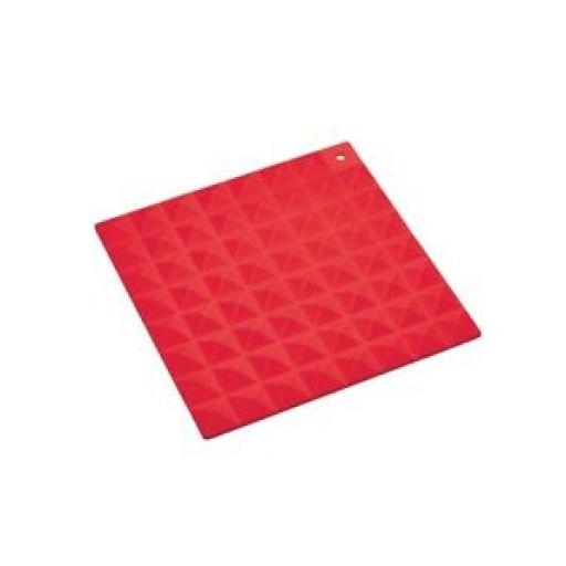 Colourworks Heat Resistant Silicone Kitchen Hot Mat Square Trivet Red 16cm