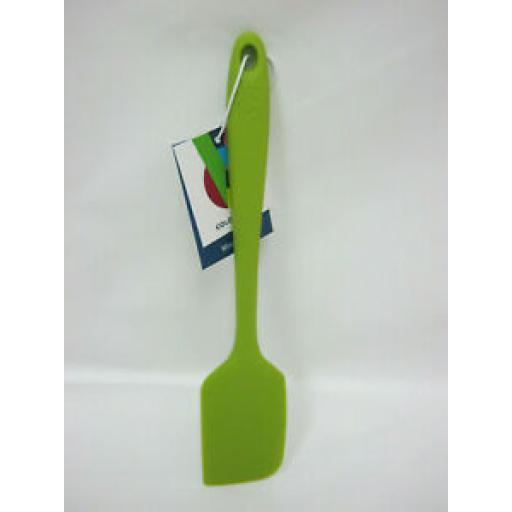 KitchenCraft Colourworks Silicone Mini 20CM Bowl Scraper Spatula Lime