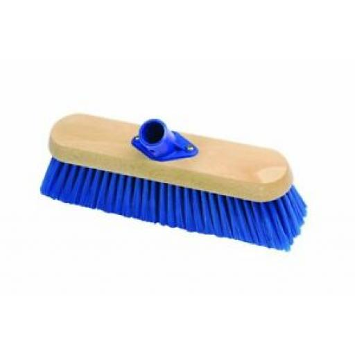 Hillsbrush Broom Sweeping Broom Brush With Socket Soft Blue Nylon G44B