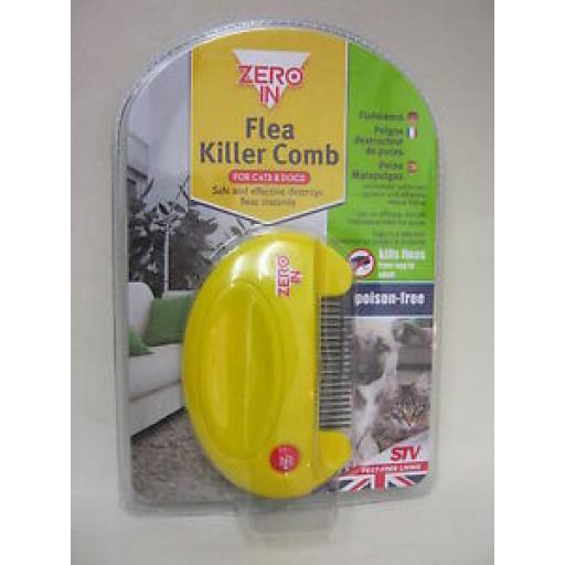 Zero In STV Flea Killer Comb Cats And Dogs Poison Free ZER023