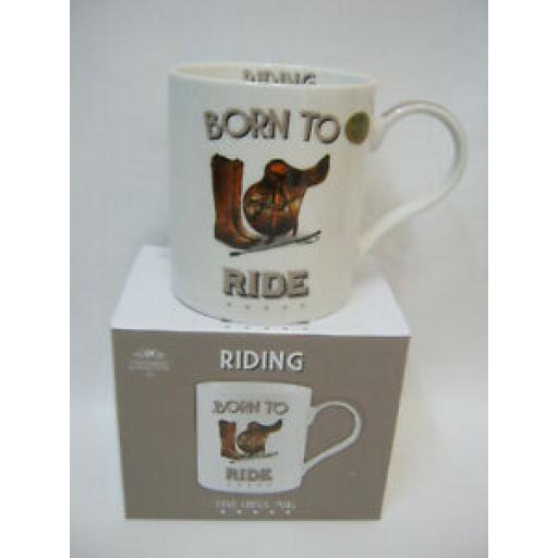 Lesser And Pavey Mug Beaker Coffee Tea Cup Riding Born To Ride LP93594