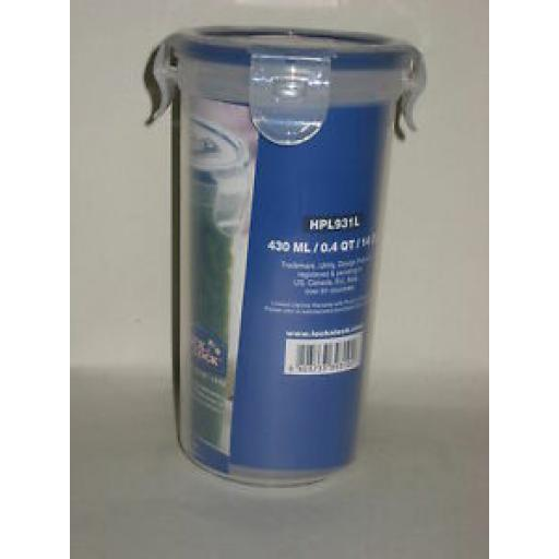 Lock and & Lock Round 430ML Food Container HPL931L Pk2
