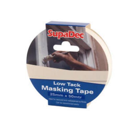 SupaDec Low Tack Masking Tape 25mm x 50mtr SDLTM25
