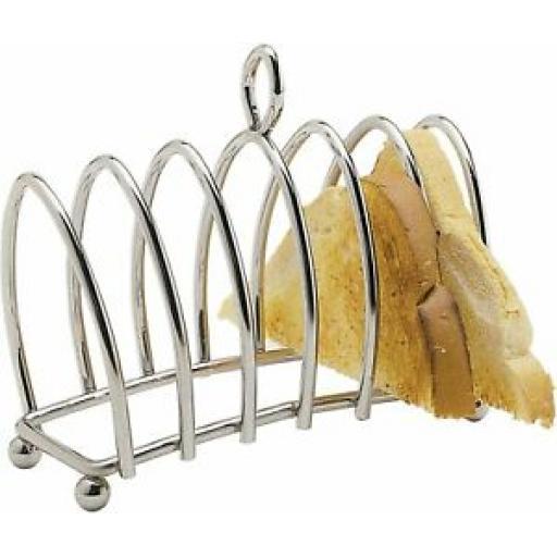Kitchencraft Chrome Victorian Shaped Toast Rack KCTOAST