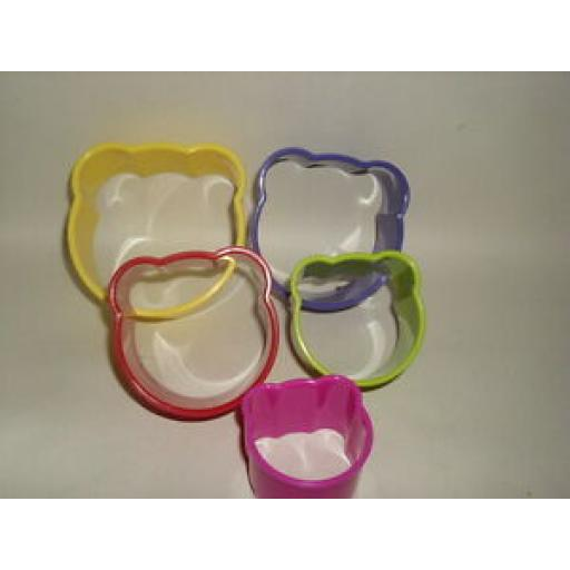 Zeal Biscuit Pastry Cookie Cutters Plastic Set Of 5 Bears N210