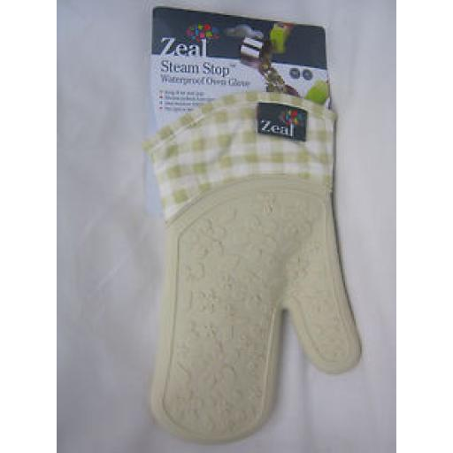 Zeal Traditional Single Oven Mitt Glove Silicone Waterproof Cream V104