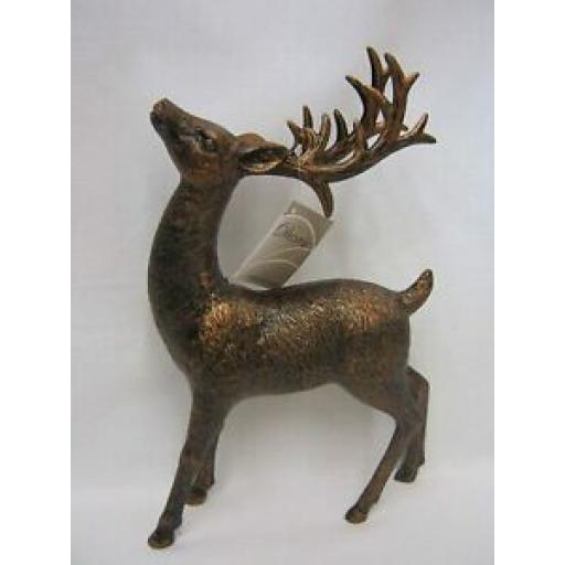 Decoris Bronze Plastic Stretching Reindeer 515783