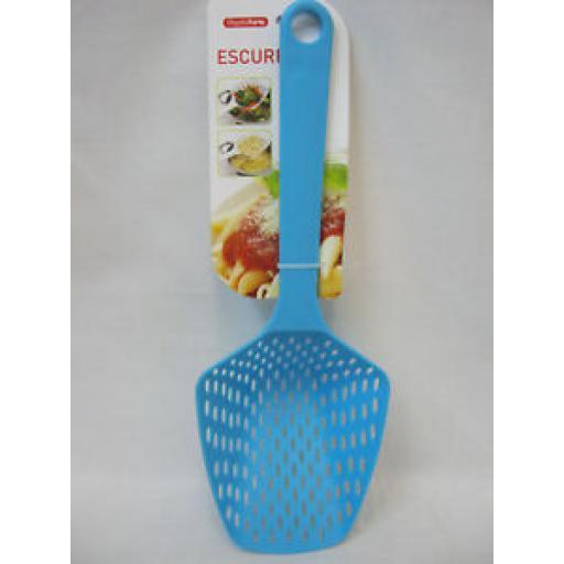 Albero PlasticForte Large Plastic Slotted Spoon 11848 Escurridor Aqua Blue