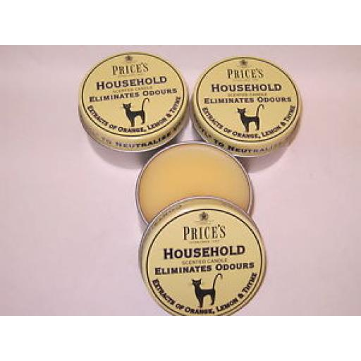 Prices Wax Scented Candle Eliminates Household Odours Tin Cat Pk 3