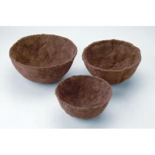 """Ambassador Hanging Basket Round Coco Pre Shaped x 2 Liners 12"""" 30cm ABCL12"""