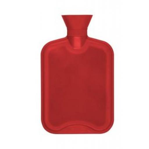 Hearth And Home Ribbed Rubber Hot Water Bottle 2 Litre Red HHWB15
