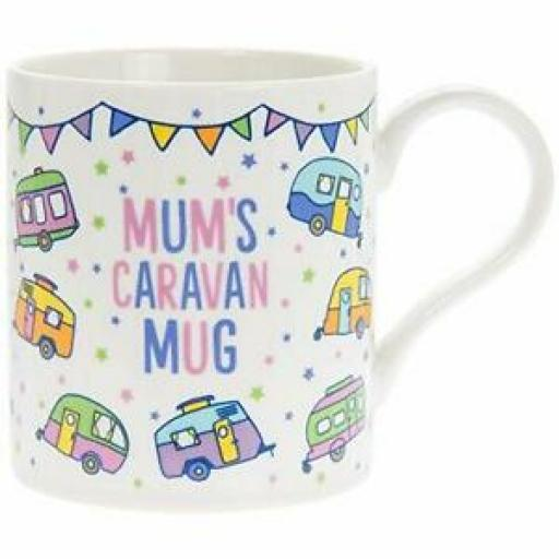 Fine Bone China Mug Beaker Coffee Tea Cup Mum's Caravan Mug LP93910