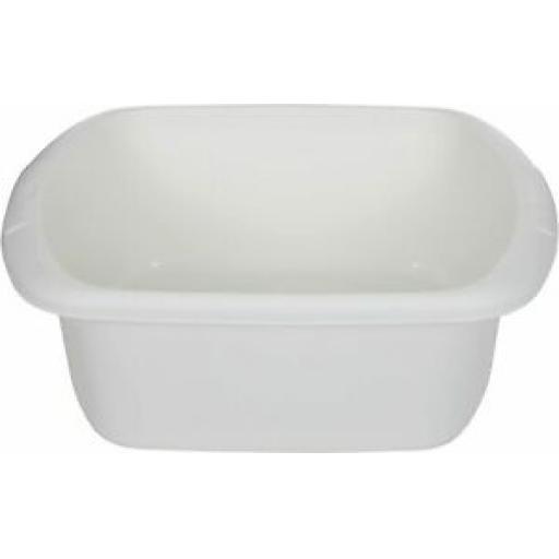"""Whitefurze Cream Large Oblong Plastic Washing Up Bowl 37cm 14 1/2"""""""