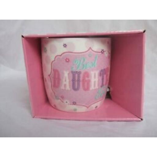 BGC Fine China Mug Beaker Coffee Tea Cup Best Daughter Ever KL0029