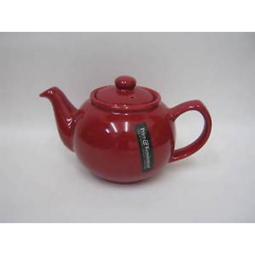Price And Kensington Pot Teapot 2 Cup Tea Pot 0056.752 Red