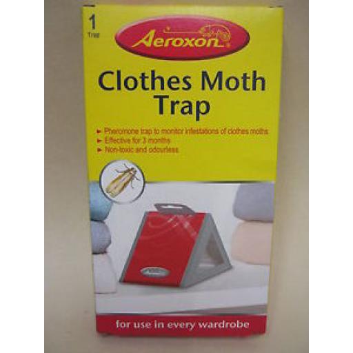 Aeroxon Clothes Pheromone Moth Trap Non Toxic And Odourless 1 X Trap