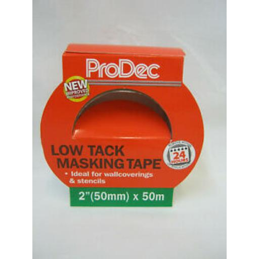 Prodec Low Tack Masking Tape 50mm x 50mtr PLTT50