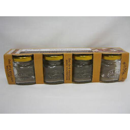 Kilner Glass Mini Shot Jam Jars With Lids 55ml Set Of 4 0025.796