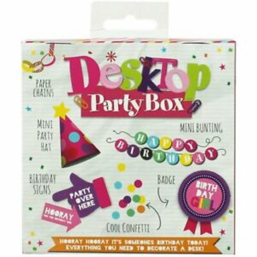 Eurowrap Desktop Party Box Birthday Girl Everything To Decorate Your Desk