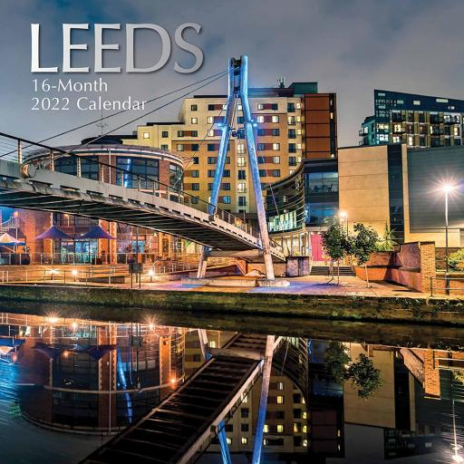Square Glossy 16 Month Wall Calendar Leeds 2022