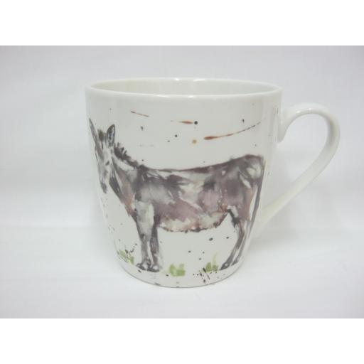 Lesser And Pavey Fine China Country Life Mug Beaker Tea Cup Donkey LP34064