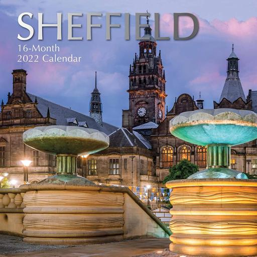Square Glossy 16 Month Wall Calendar Sheffield 2022