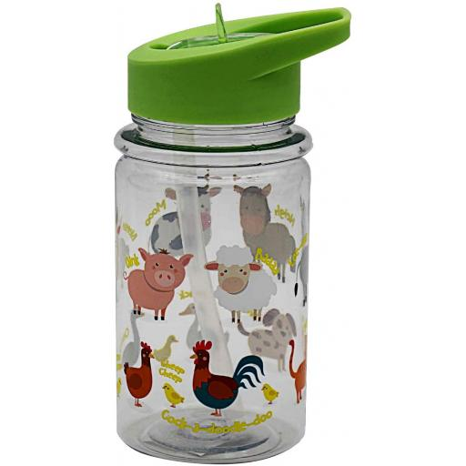 Lesser & Pavey Childrens Little Stars Water Drinks Sports Bottle 500ml Farmyard