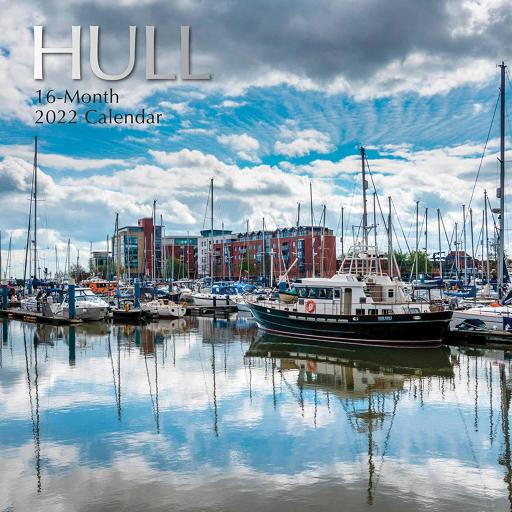 Square Glossy 16 Month Wall Calendar Hull 2022