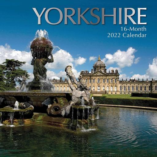 Square Glossy 16 Month Wall Calendar Yorkshire 2022