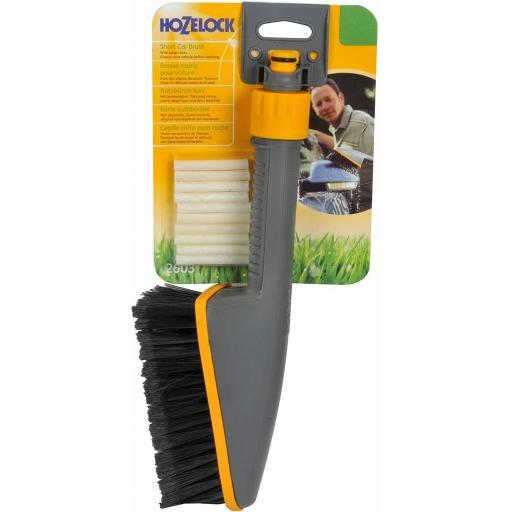 Hozelock Short Car Brush Includes Soap Sticks For Hosepipes 2603