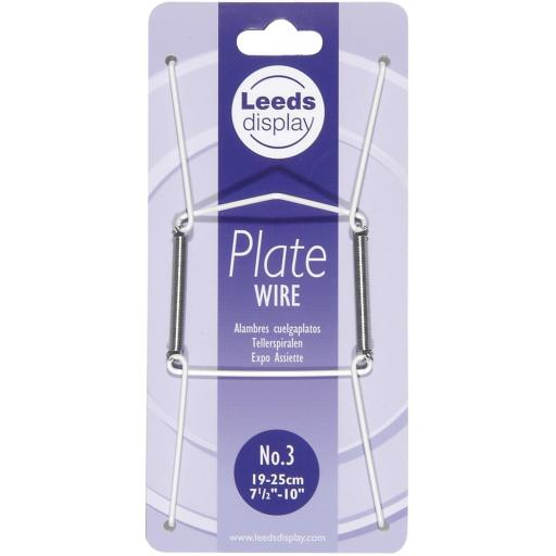 """2 X Plate Hanger Plastic Coated Wire Plate Size 7.5"""" to 10"""""""