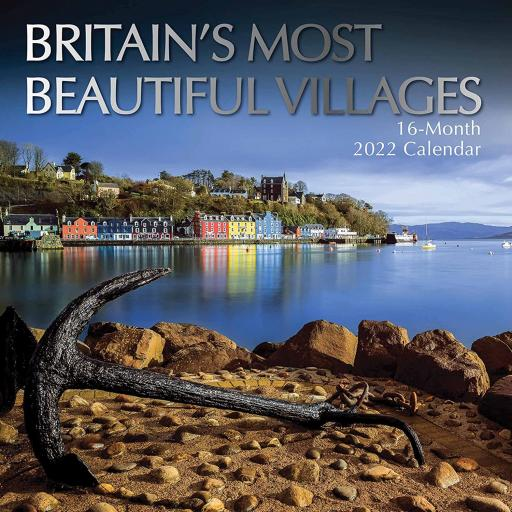 Square Glossy 16 Month Wall Calendar Britain's Most Beautiful Villages 2022