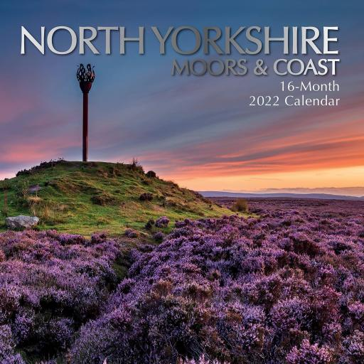 Square Glossy 16 Month Wall Calendar North Yorkshire Moors And Coast 2022