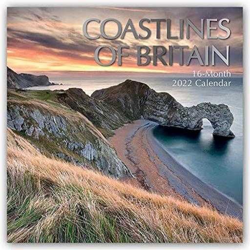 Square Glossy 16 Month Wall Calendar Coastlines Of Britain 2022