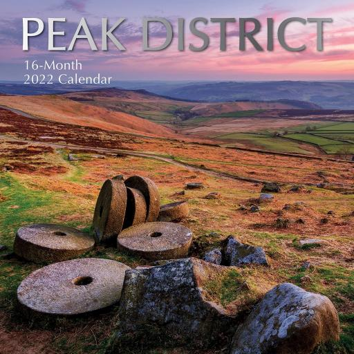 Square Glossy 16 Month Wall Calendar Peak District 2022